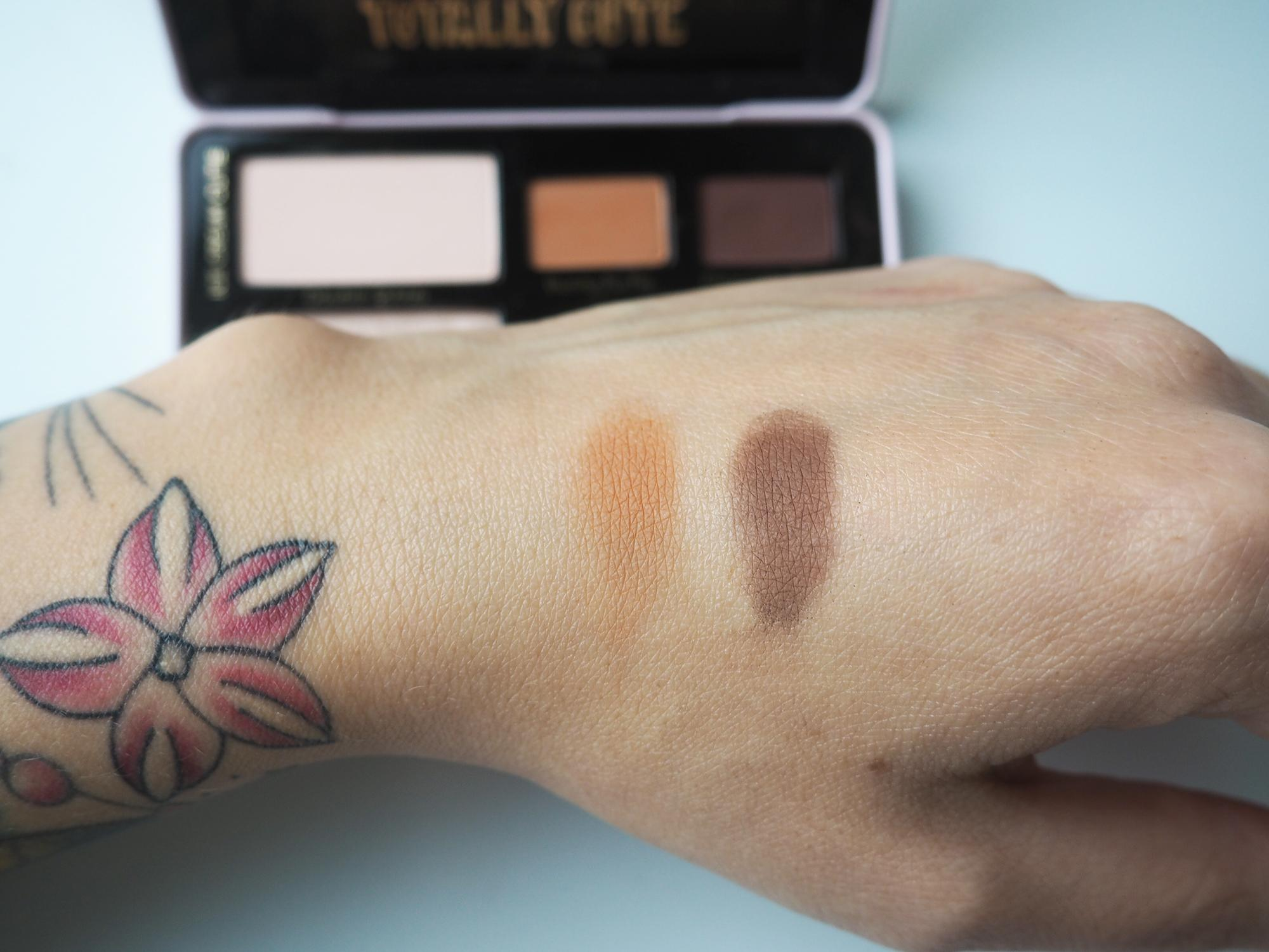 too faced totally cute swatches